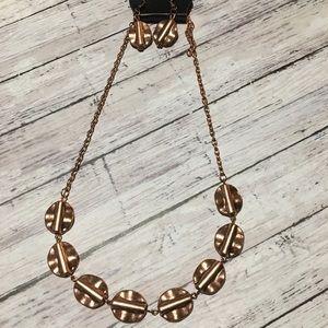 Vintage paparazzi copper statement necklace